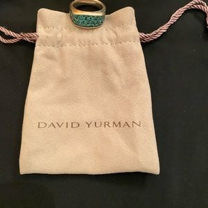 Davjd Yurman one of a kind authentic emerald ring/